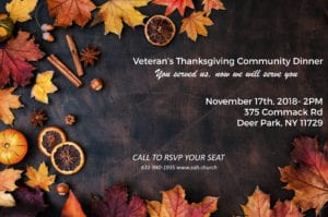 Veterans Thanksgiving Dinner @ Sound of Heaven