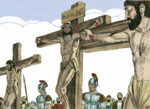 What did Jesus say on the cross to thieves